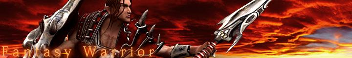 fantasy warrior character banner