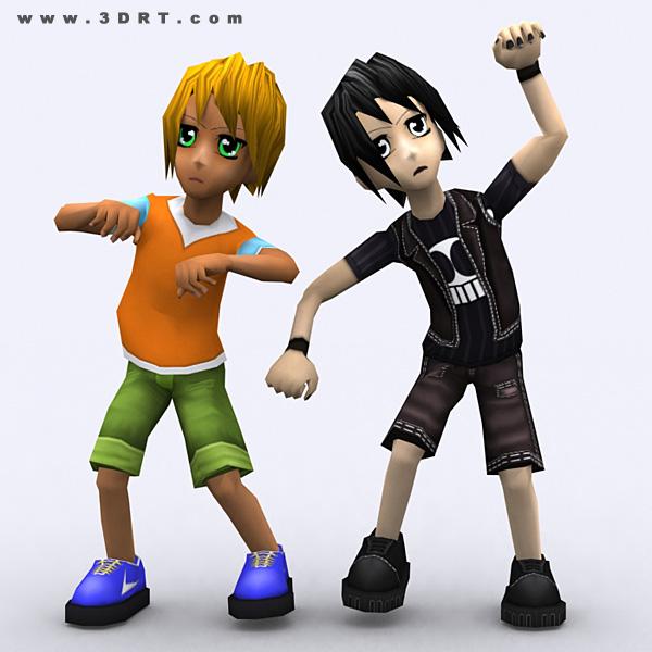 Anime Characters 3d : Umi anime boys