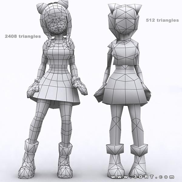 Anime Characters 3d Models : Yoko anime girls