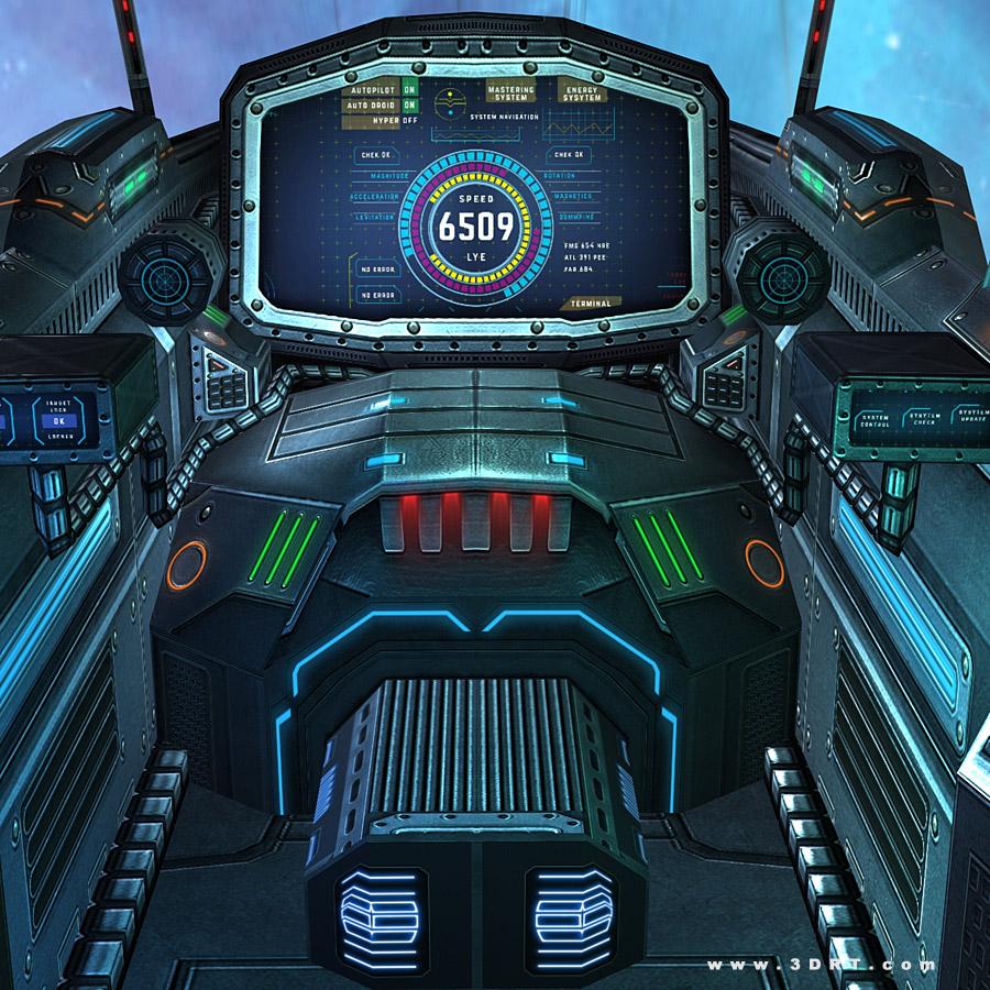 Sci-fi spaceships cockpits