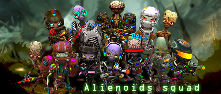 aliens alienoids monsters 3d characters