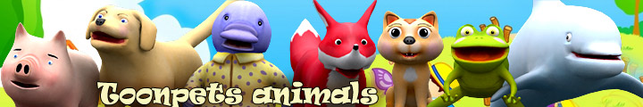 toonpets animals 3d characters lowpoly