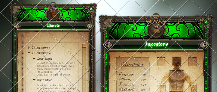3Dfoin - Fantasy game interface
