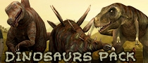 3d dinosaurs lowpoly animated characters for indie game developers