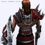 fanrasy warrior 3d model character