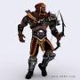dark archer fantasy 3d character